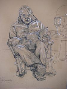 Drawing of Eli Newberger by Carolyn Newberger